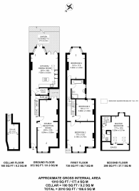 Large floorplan for Halsmere Road, Camberwell, SE5