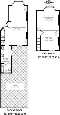 Large floorplan for Silvester Road, East Dulwich, SE22