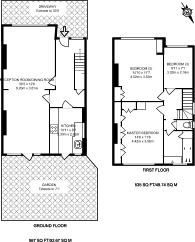 Large floorplan for Eden Park Avenue, Beckenham, BR3