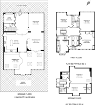 Large floorplan for Kingsgate Avenue, Finchley Central, N3
